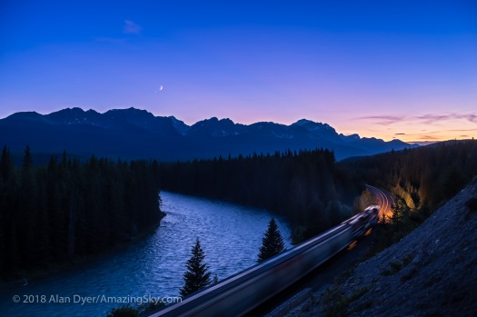 Conjunction over the Continental Divide with Train