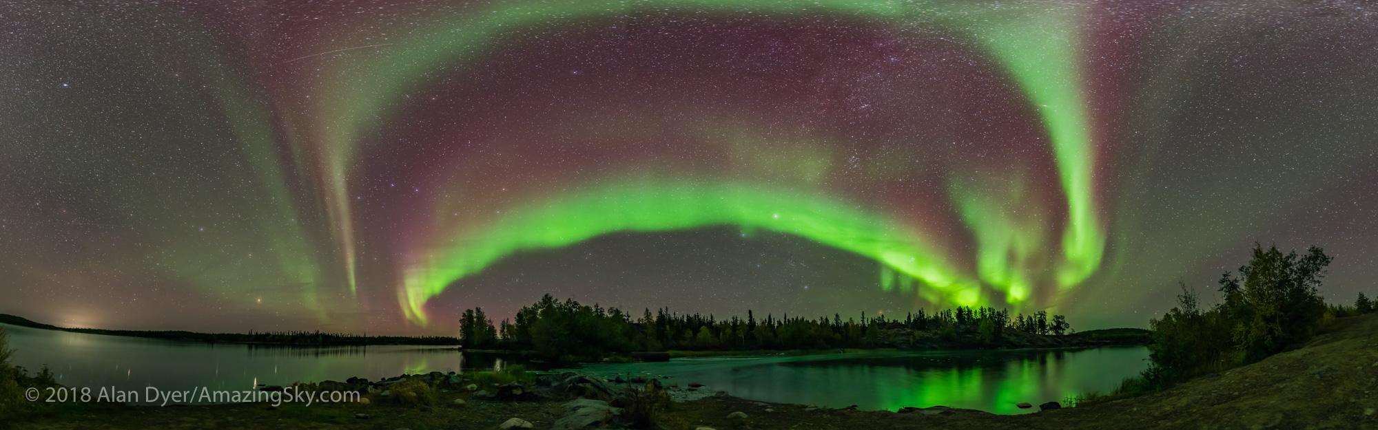 Aurora Panorama at Tibbit Lake #2