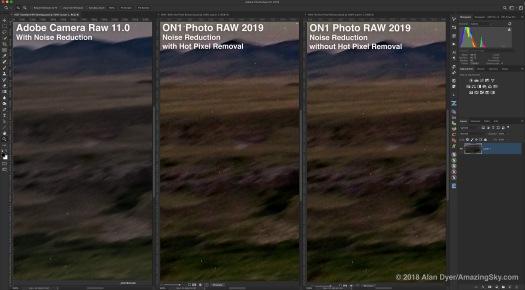 Hot Pixel Removal Comparison