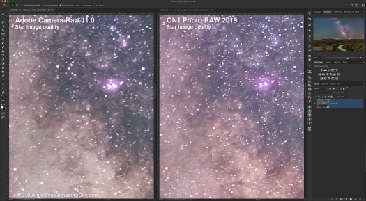 ON1 & ACR Star Image Comparison