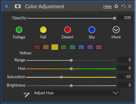 ON1 Color Adjustment