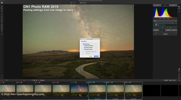 Testing ON1 Photo RAW for Astrophotography – The Amazing Sky