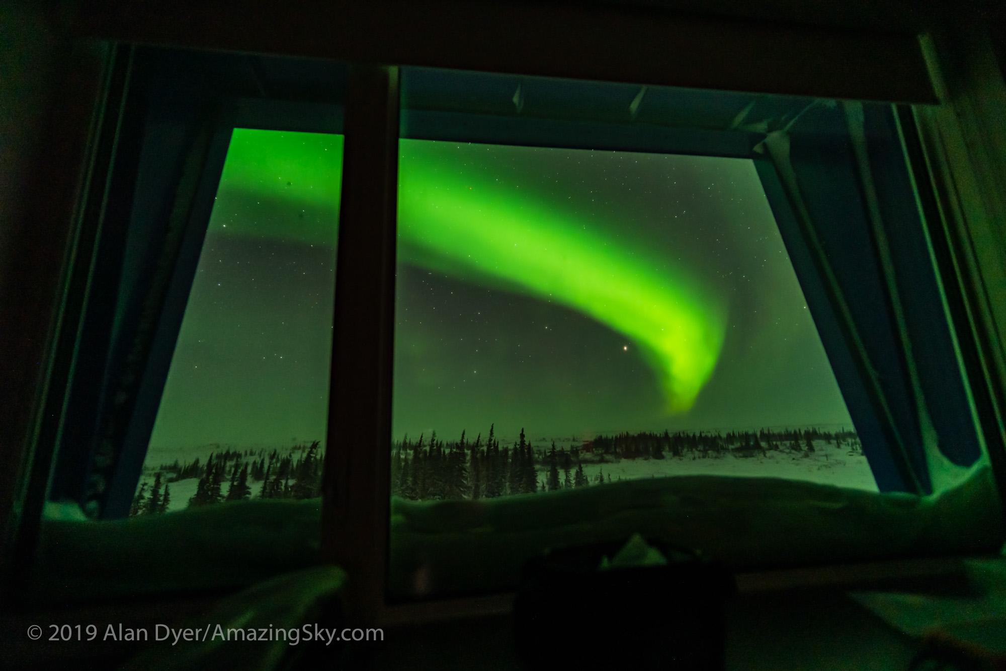 Aurora Thru the Dorm Room Window