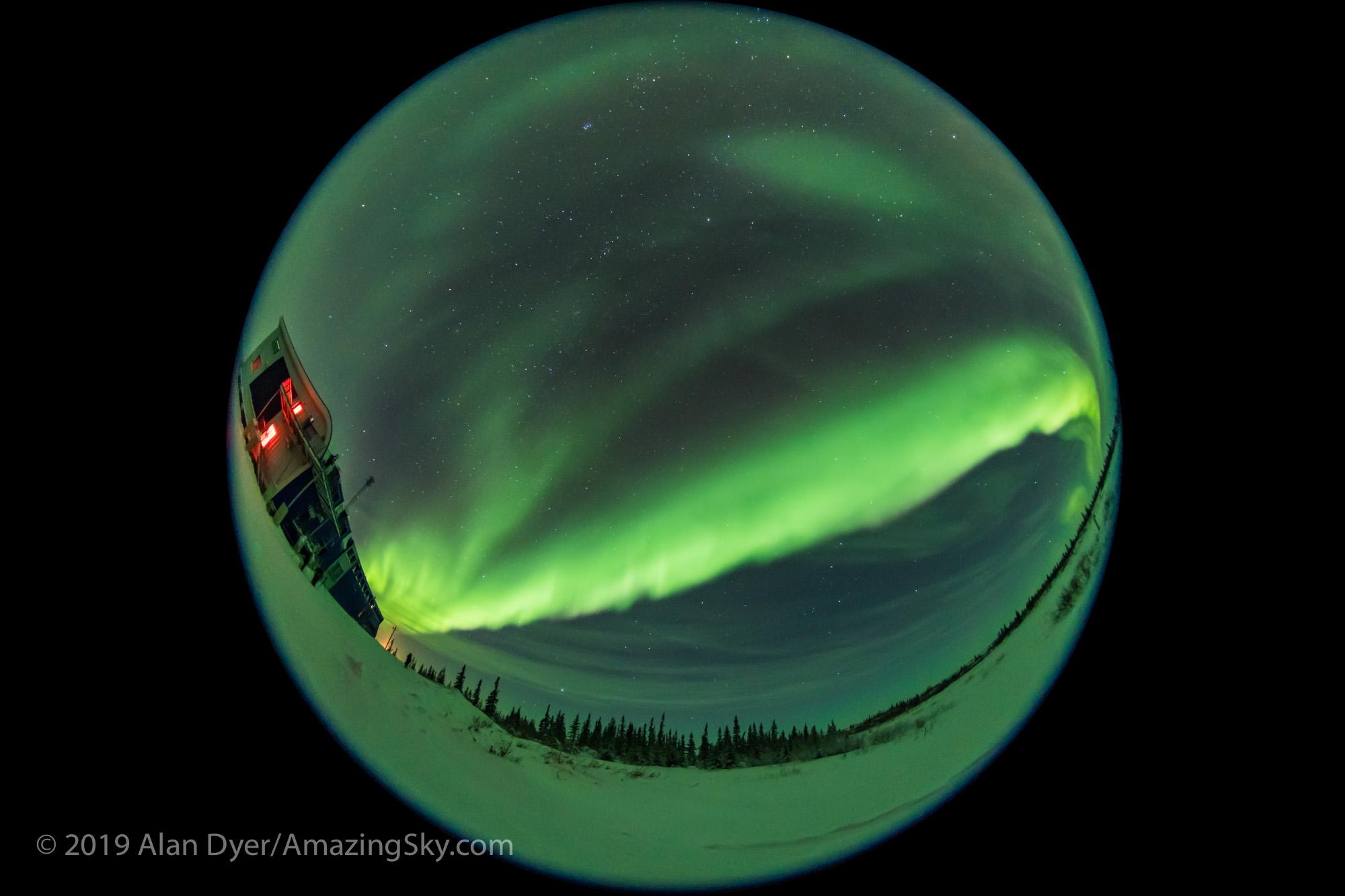 Auroral Arc over CNSC - Feb 2, 2019