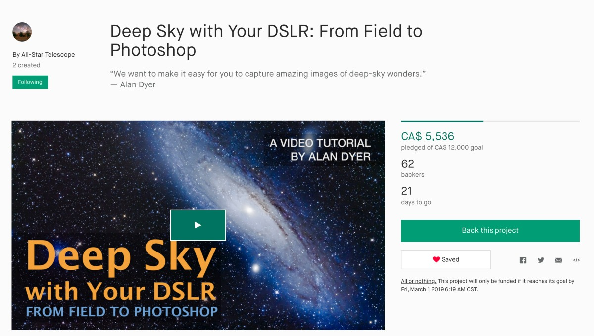 "How to Shoot ""Deep-Sky with Your DSLR"""