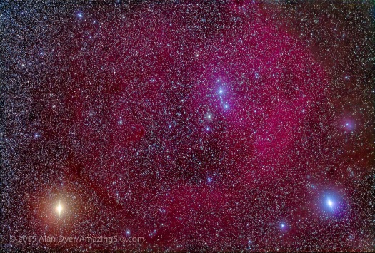 Lambda Orionis Nebula with 200mm
