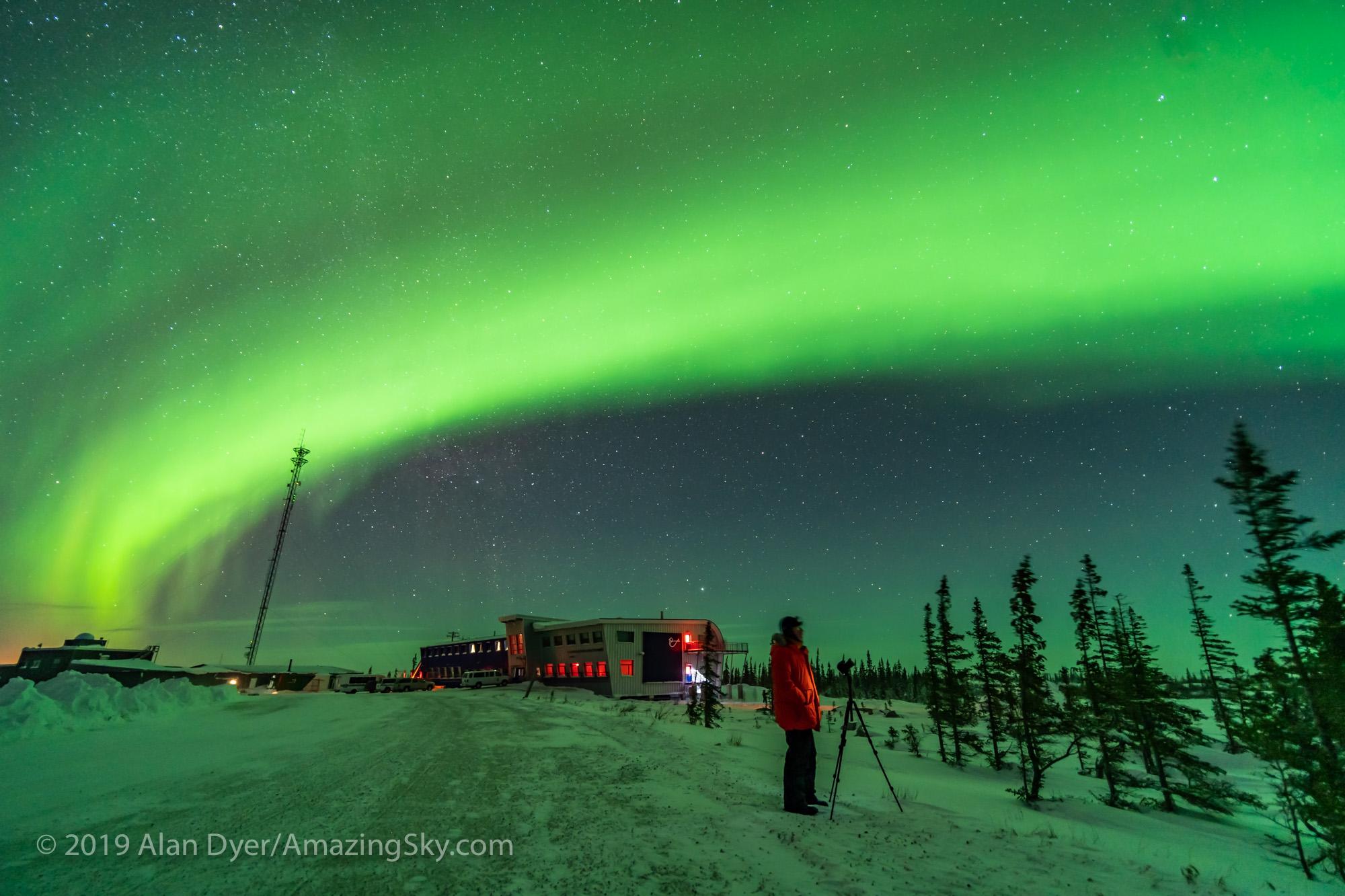 Photographer Shooting the Northern Lights #2 (Feb 8, 2019)