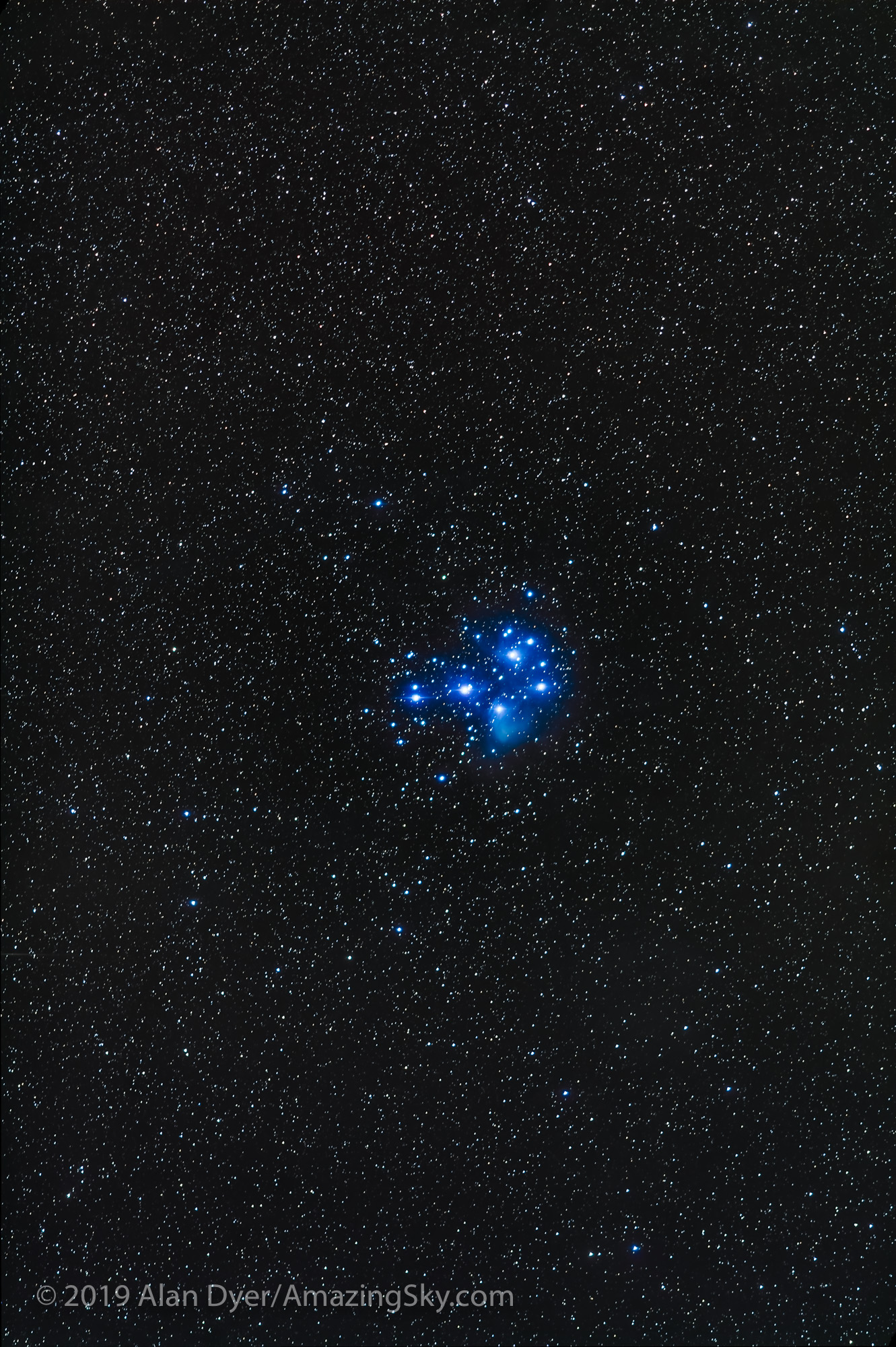 Pleiades M45 with 200mm Lens