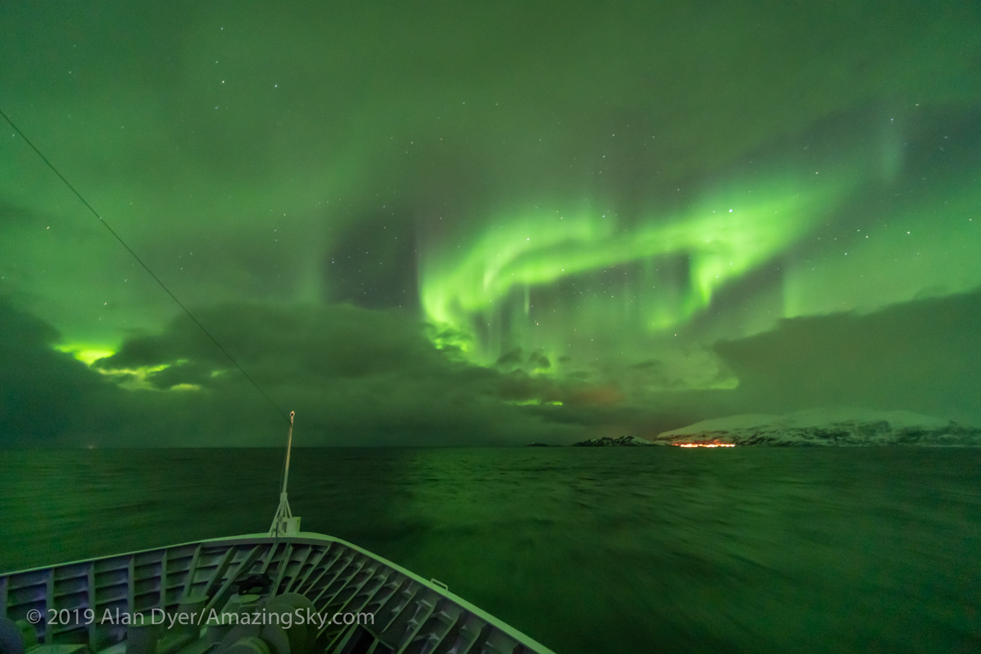 Aurora over the Norwegian Sea #2 (Feb 27, 2019)
