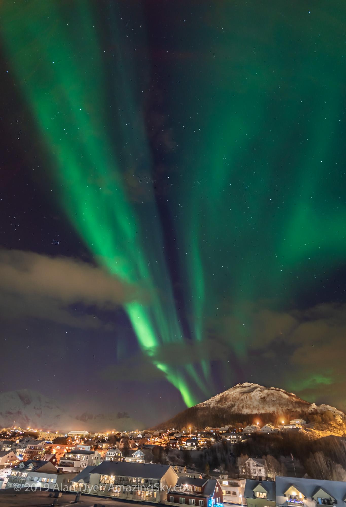 Aurora over Skjervøy, Norway