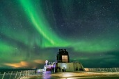 Curtains of Northern Lights over the Hurtigruten ferry ship the ms Trollfjord on March 1, 2019. This is a single 1.6-second exposure at f/2 with the 15mm Venus Optics lens and Sony a7III at ISO 10000.