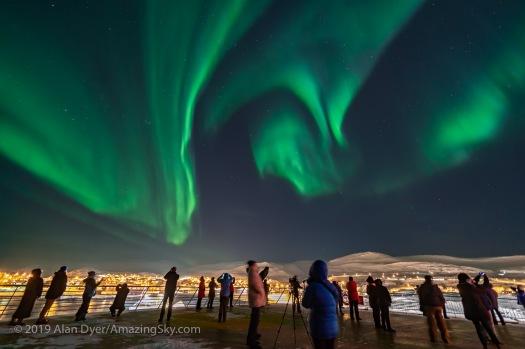 Auroral Swirls over Båtsfjord, Norway