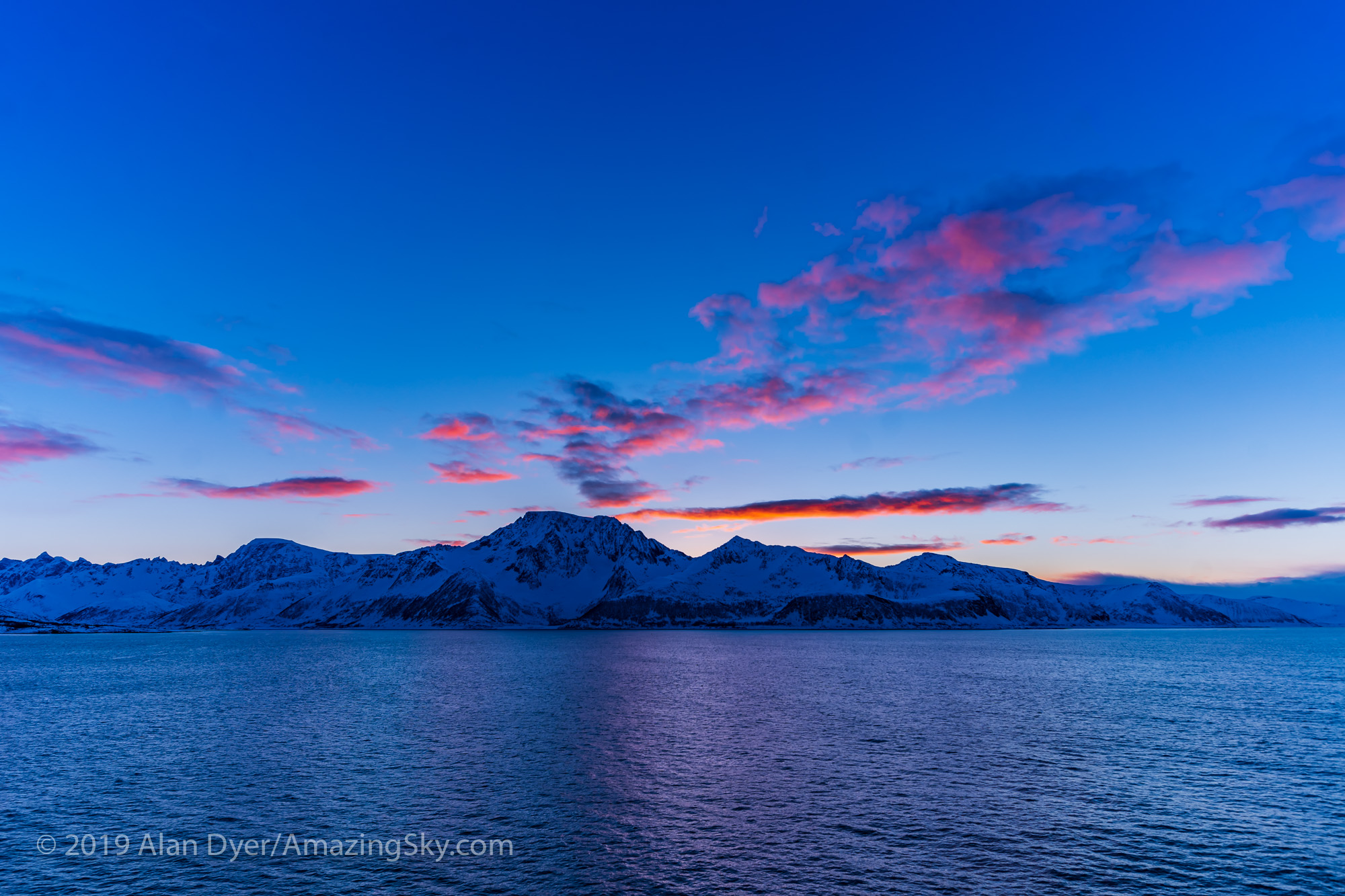 Sunset from the Trollfjord