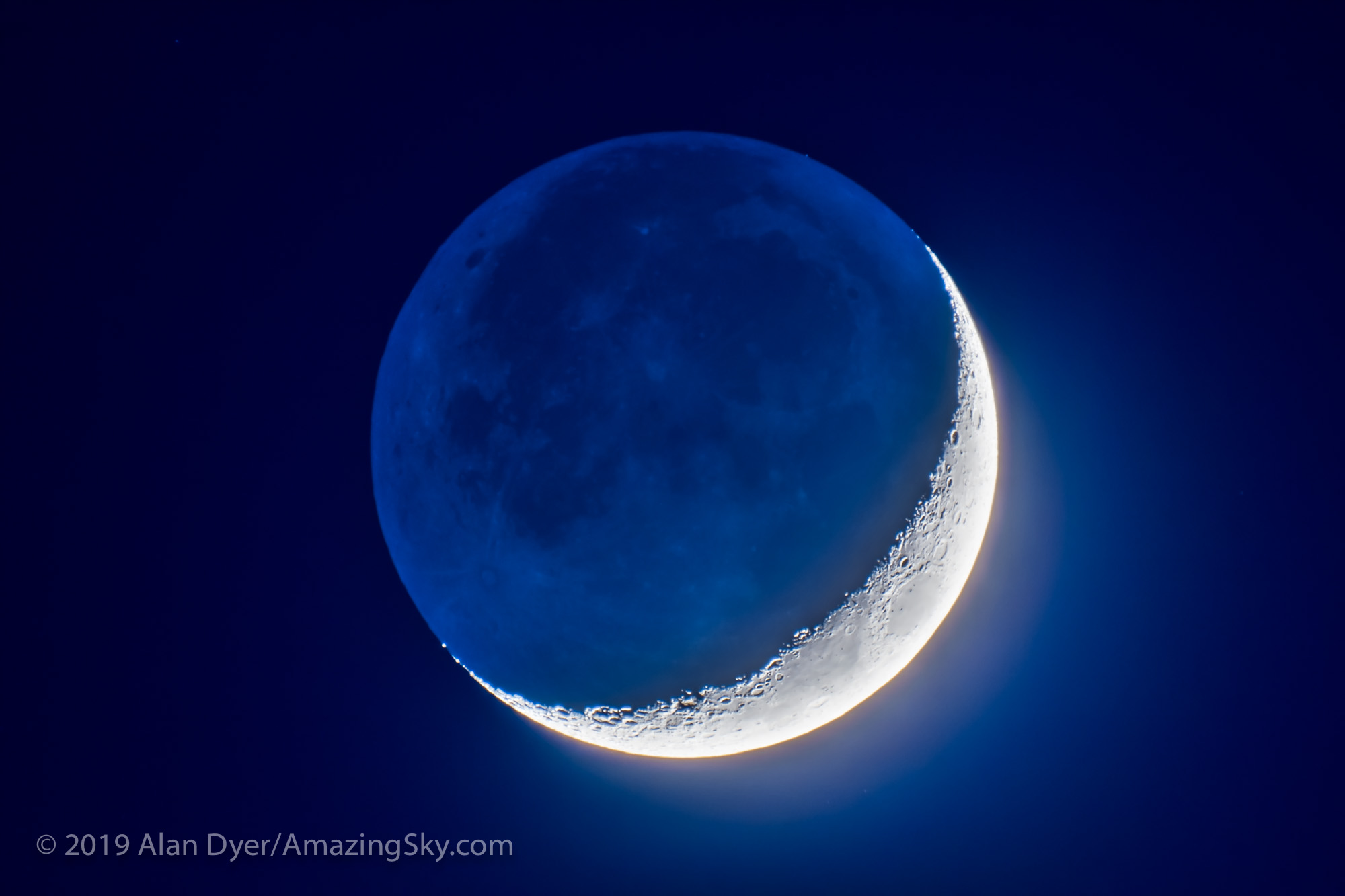 Four-Day-Old Moon with Earthshine