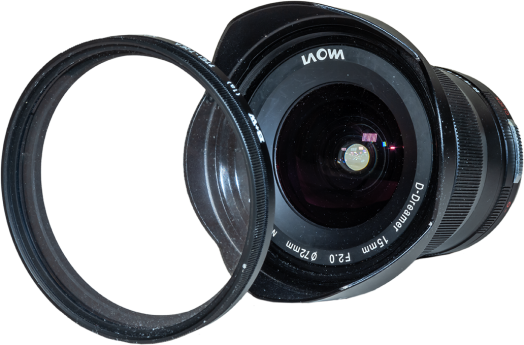 Laowa 15mm Front View with Filter