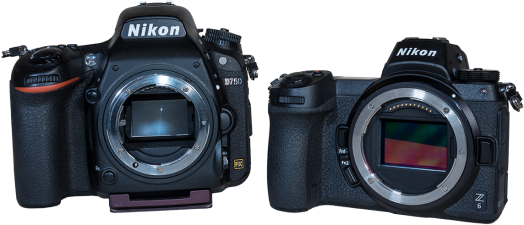 Nikon D750 and Z6 copy