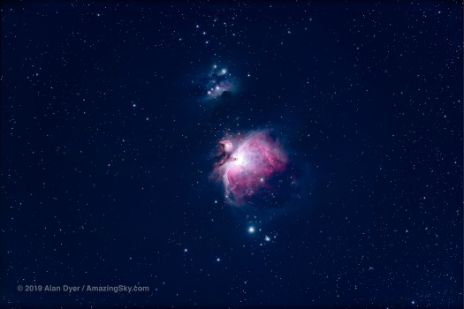 The Orion Nebula in Moonlight