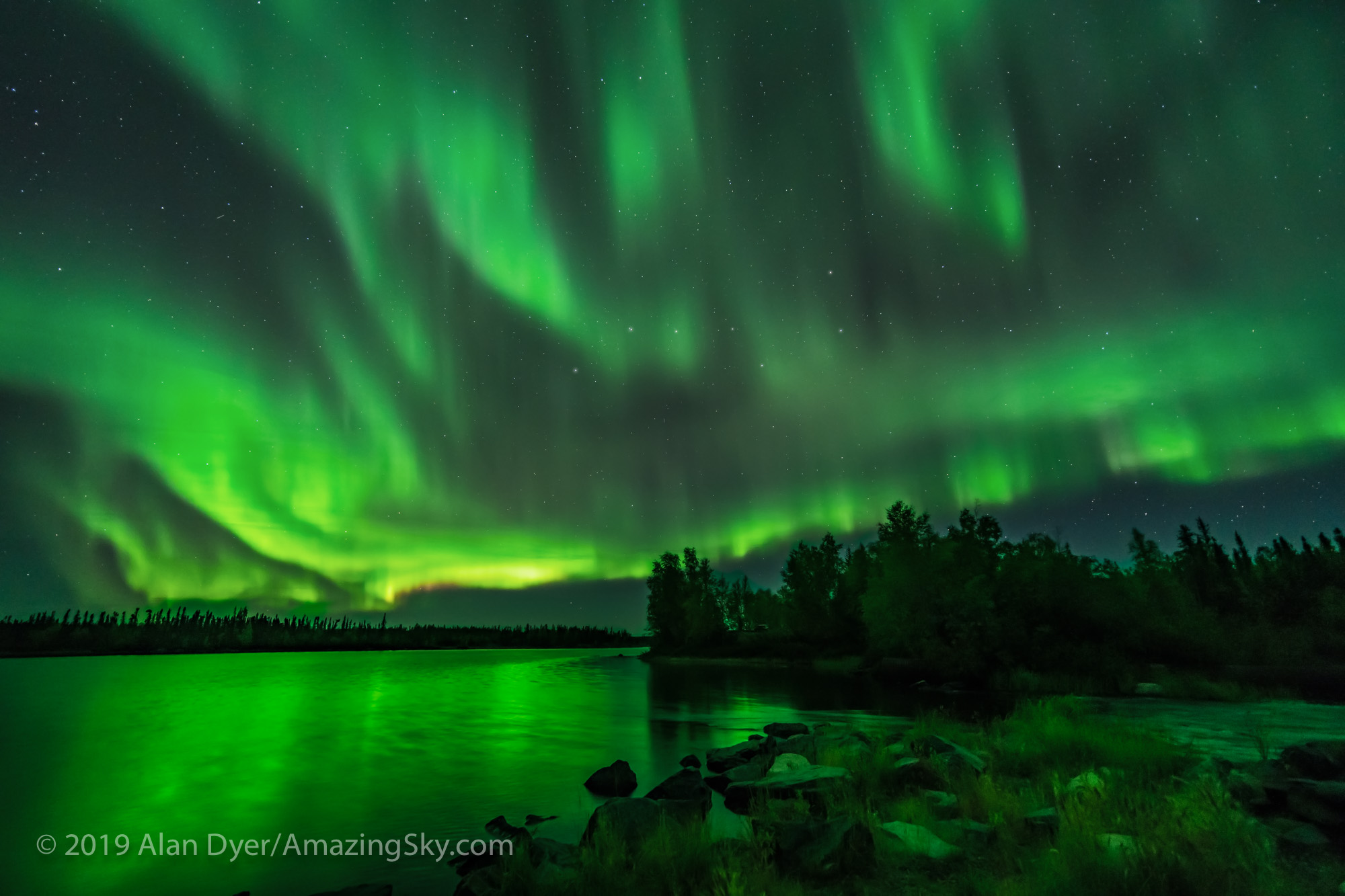 Sky-Filling Aurora at Tibbitt Lake