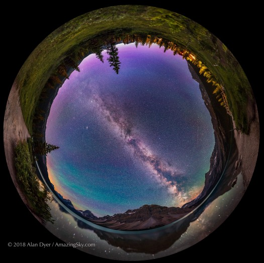 Bow Lake by Night Panorama (Spherical)