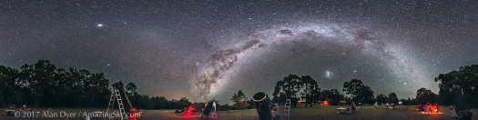 Southern Sky Panorama at OzSky Star Party