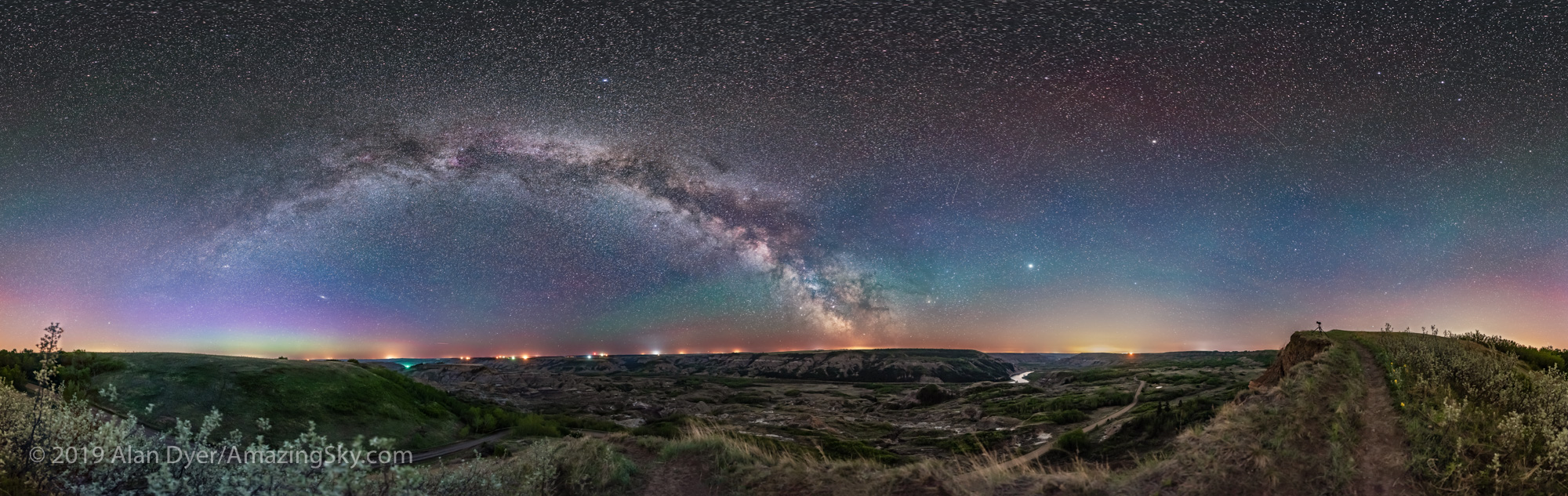 Milky Way over Dry Island Buffalo Jump