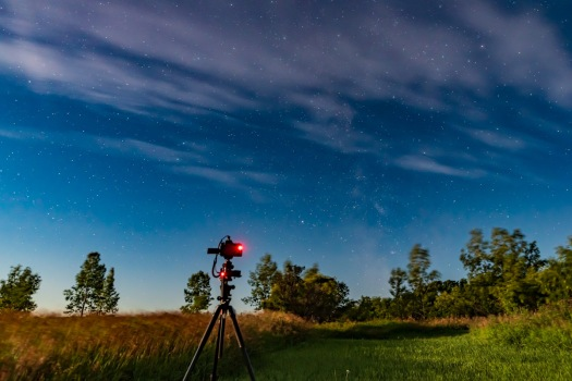 MSM Tracker Taking Time-Lapse in Moonlight
