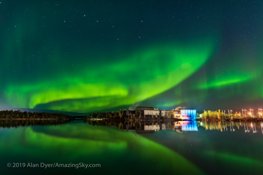 Aurora over Prince of Wales Museum, Yellowknife