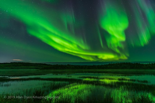 Aurora over Prosperous Lake, Yellowknife (Sept 5-6, 2019)