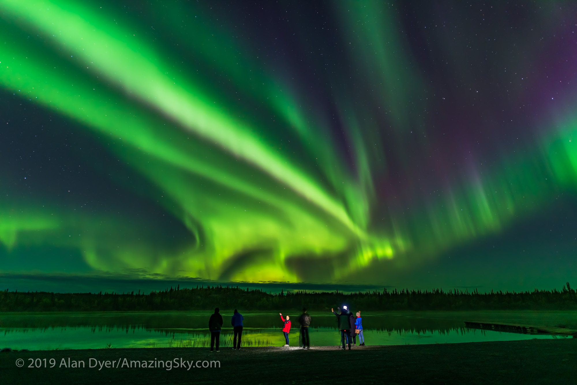Aurora Tourists at Prosperous Lake (Sept 5-6, 2019)