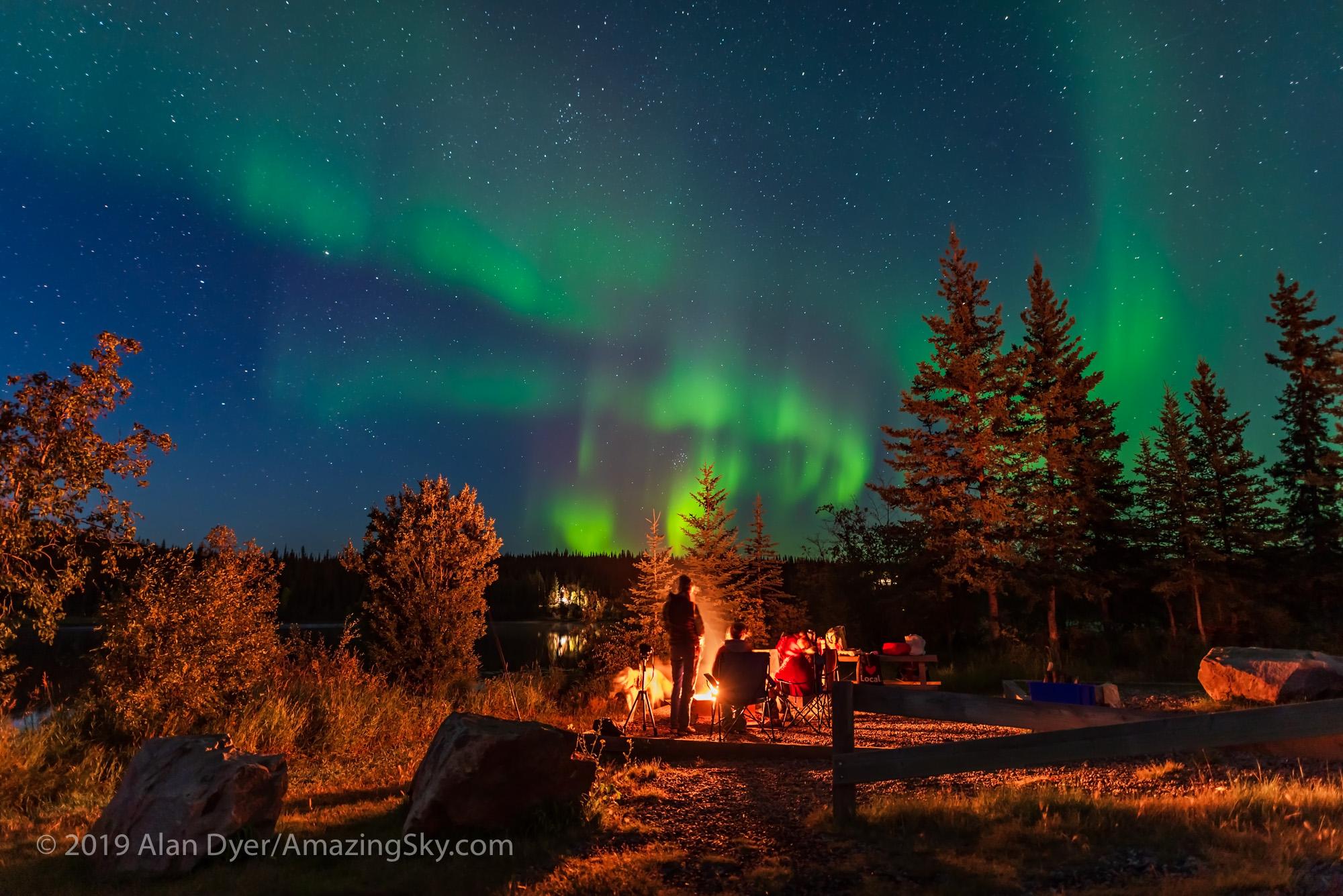 Campfire Under the Aurora #2