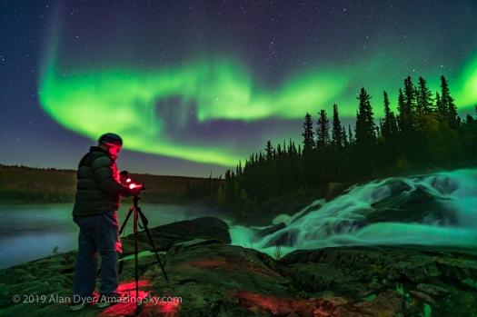Photographer at Cameron River Ramparts