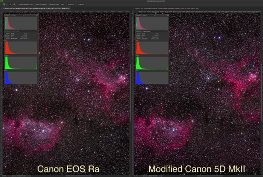 EOS Ra and 5D MkII Comparison