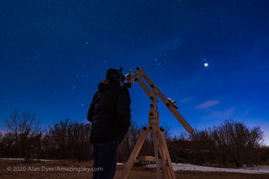 Viewing Venus & Pleiades with Big Binoculars