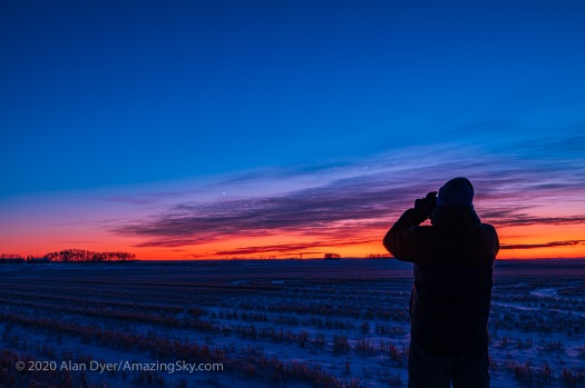Observing Venus and Saturn (Dec 8, 2019)