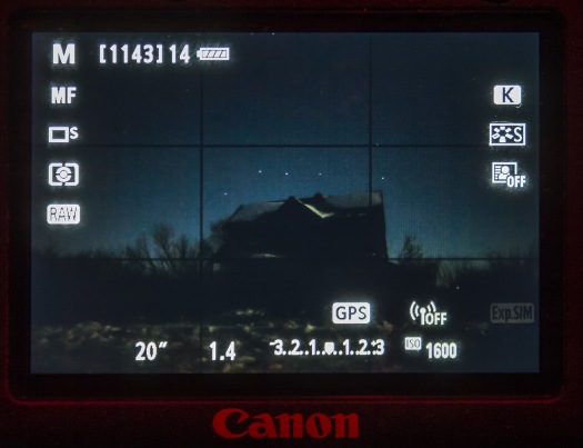 Canon 6D Live View Wide